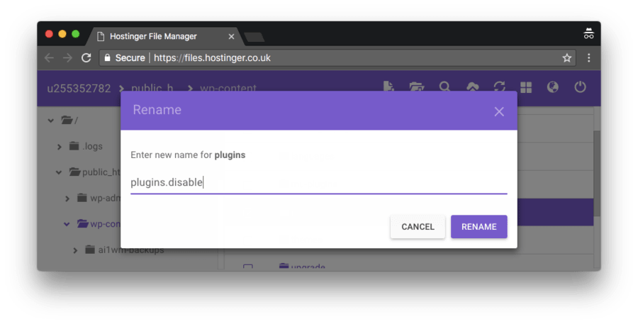 Deshabilitar todos los plugins de WordPress activos