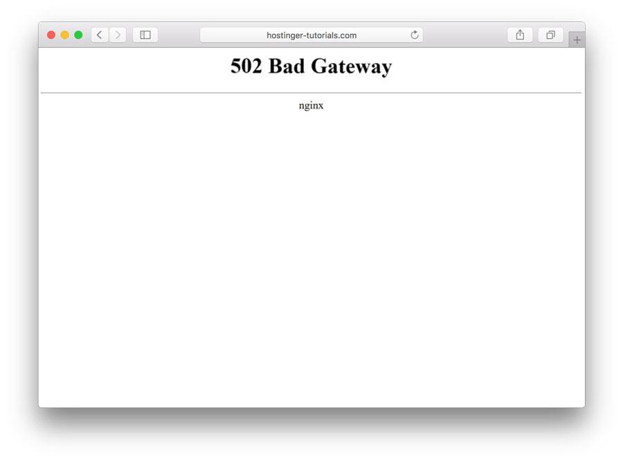 error 502 bad gateway en el navegador