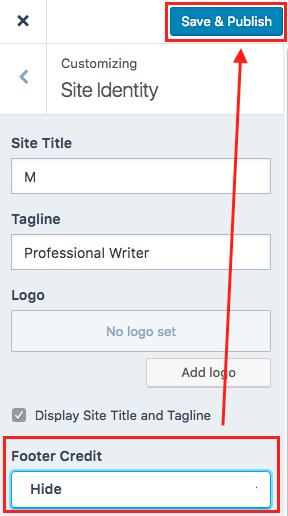 identidad de sitio guardar y publicar