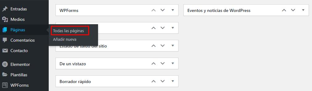 Eliminar los formularios de comentarios de todas las páginas