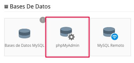 phpmyadmin en hostinger