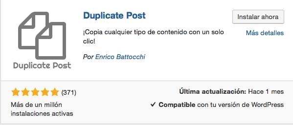 Plugin Duplicate Post de WordPress