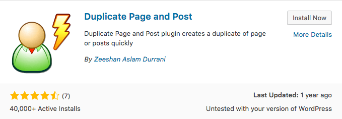 Plugin de WordPress Duplicate Page y Post