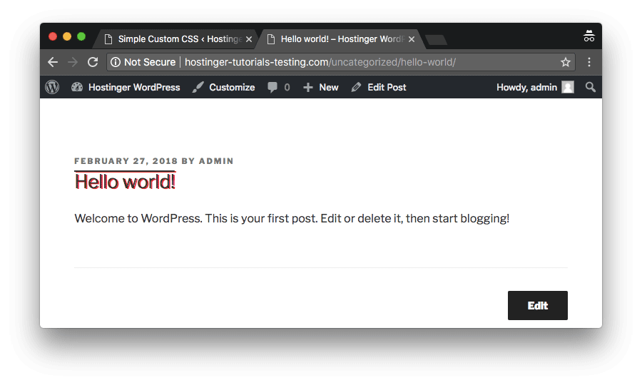 ejemplo de css personalizado