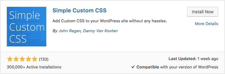 custom css plugin para wordpress