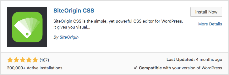 Plugin SiteOrigin CSS para wordpress