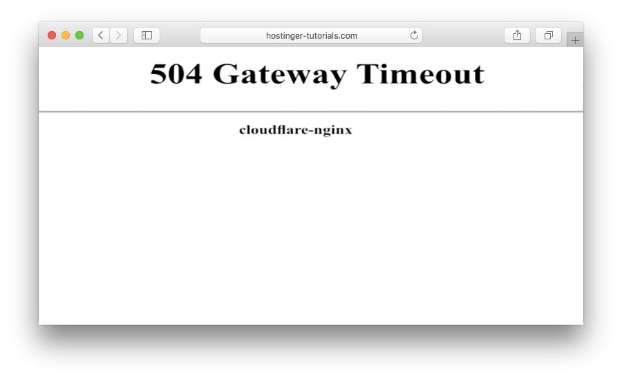 Primera versión en que se muestra el error 504 gateway timeout
