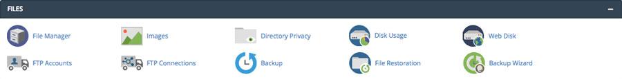 Funciones de administración de archivos cPanel
