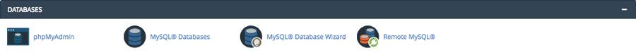Funciones de gestión de base de datos cPanel