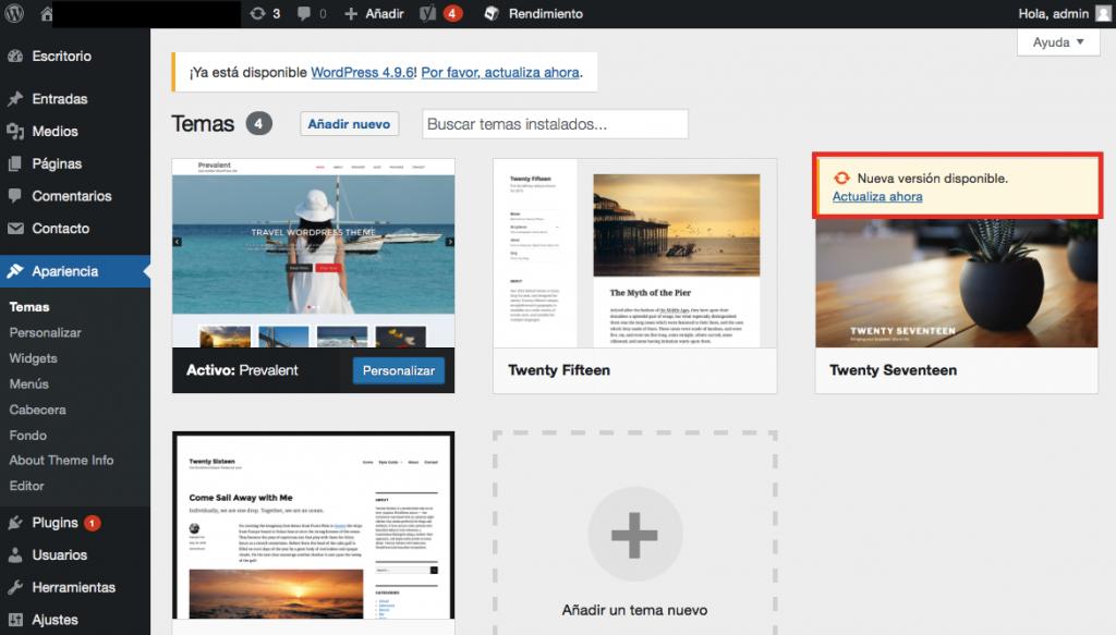 Cómo actualizar las plantillas de WordPress