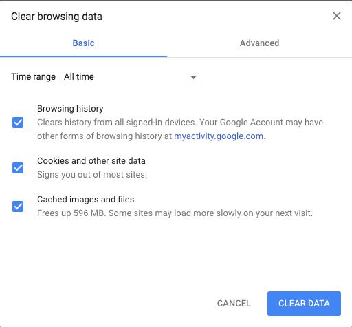 Cómo borrar la caché del navegador Chrome