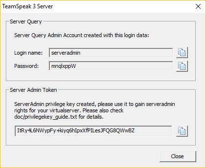 Cuadro de diálogo de clave privilegiada en Windows