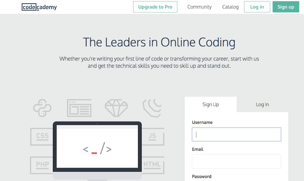 Aprende a programar en línea gratis con Code Academy