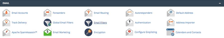Funciones de administración de correo electrónico de cPanel