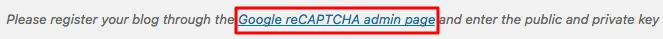Clave de API de WordPress ReCaptcha