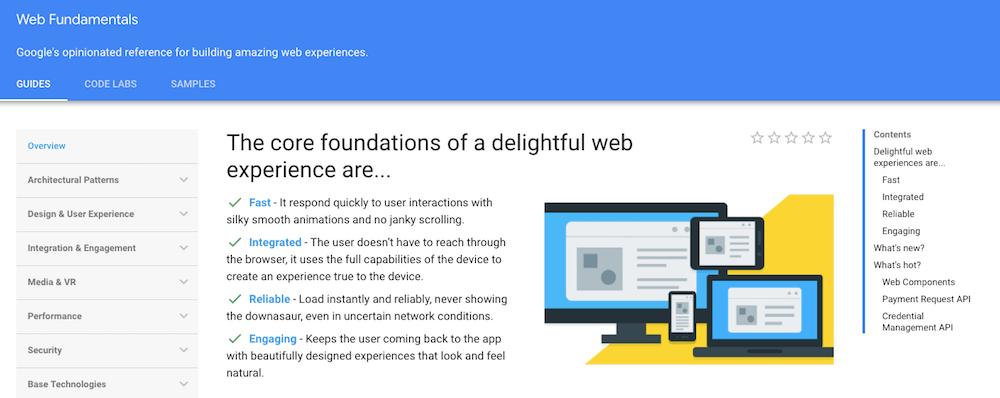 Aprende programación en línea de forma gratuita con Google Web Fundamentals