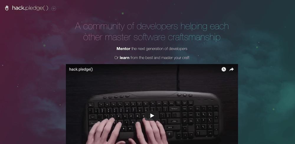 Aprende programación en línea de forma gratuita con Hack Pledge