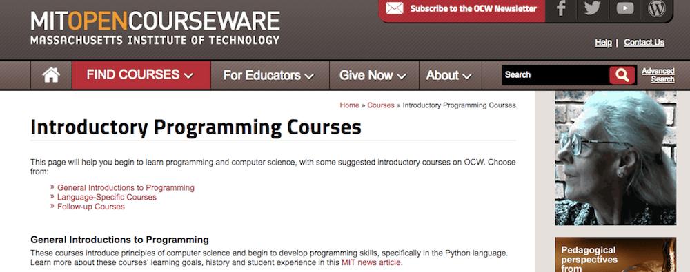 Aprende a programar en línea gratis con MIT Open Courseware