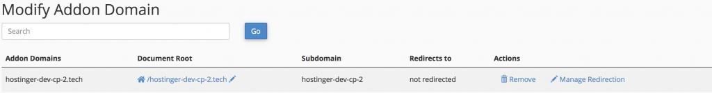 modificar el dominio adicional en la lista