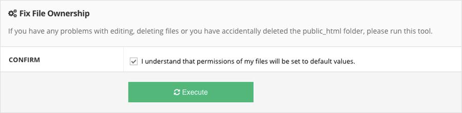 Reparar archivos y permisos de directorio en Hostinger