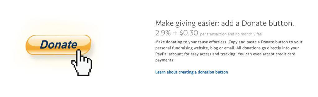 Configurar un botón de donación en PayPal