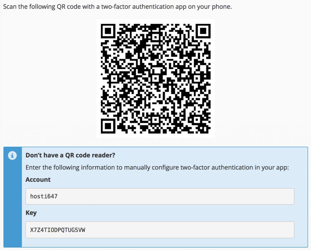 Escanear el código QR o insertar la clave manualmente.