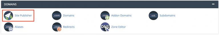 herramienta de editor de sitios en cpanel