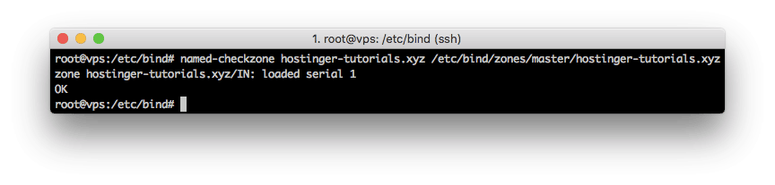 Chequeo de la zona DNS usando el comando named-checkzone