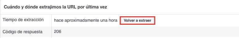 Diciéndole al depurador de Facebook que vuelva a verificar tu contenido.