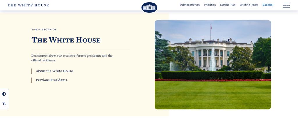 Sitio web oficial de la Casa Blanca
