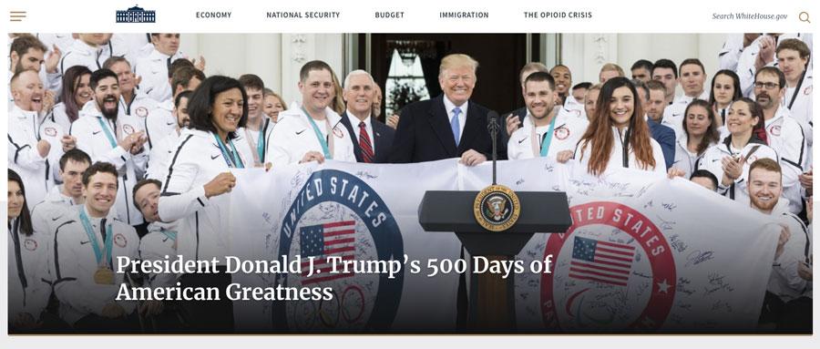 WordPress utilizado por el sitio web de la Casa Blanca