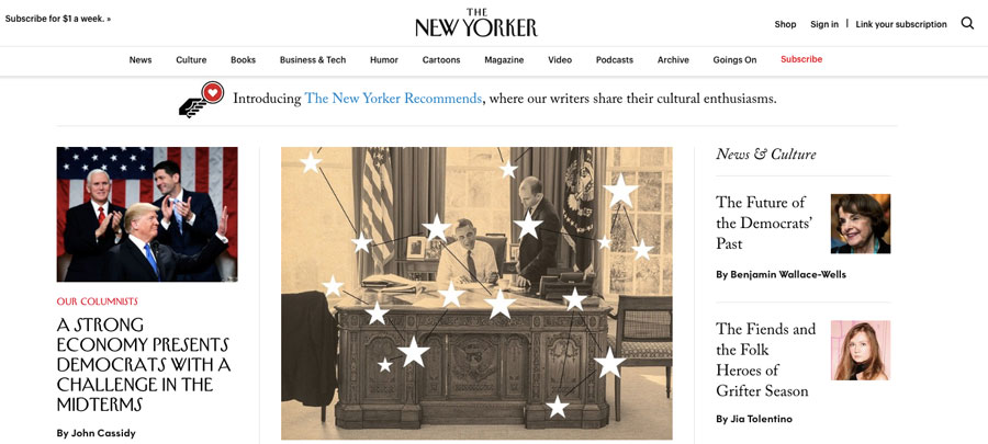 WordPress utilizado por la revista The New Yorker