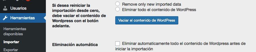 Eliminando tu contenido de WordPress existente.
