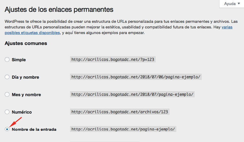 Consejo SEO de WordPress - cambia tus enlaces permanentes