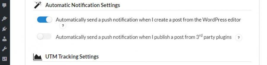 Configurando tu configuración de notificación automática.