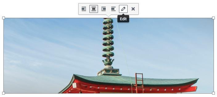 Edición de imagen en WordPress