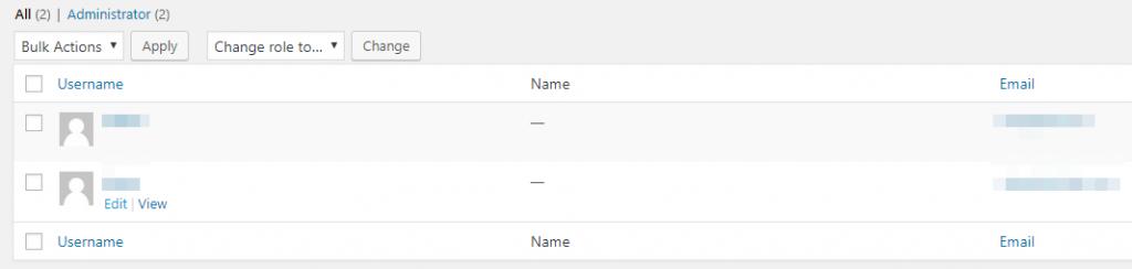Editando uno de los nombres de tus usuarios.