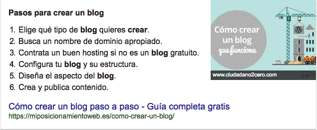 Ejemplo de Google Knowledge Graph