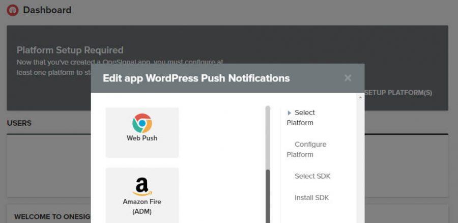 Elegir qué tipo de notificación push enviar