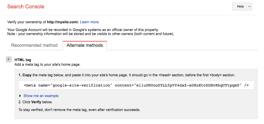 verificar la consola de búsqueda de google