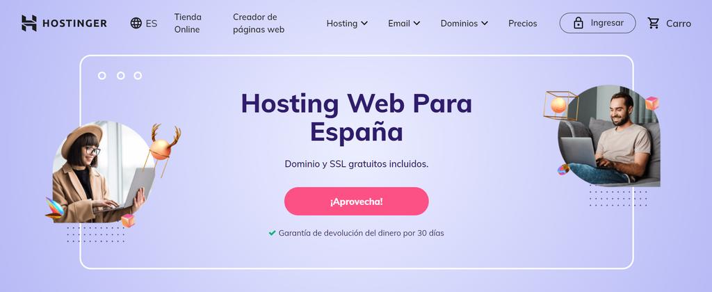 Considera Hostinger para tu alojamiento web