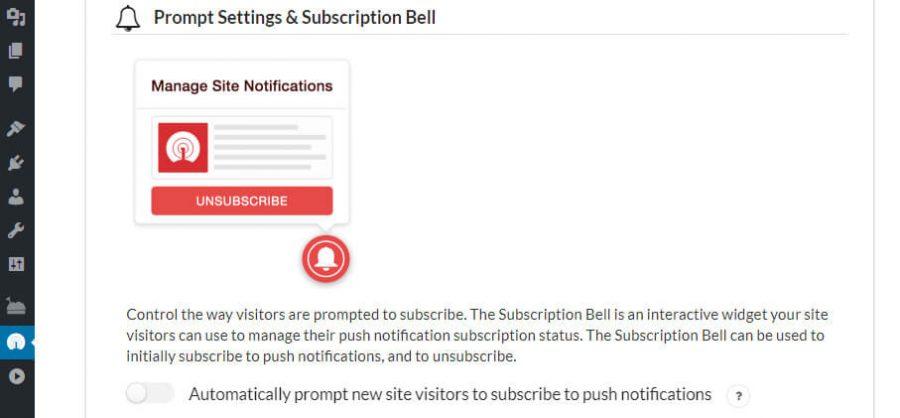 Configurando tu campana de suscripción.