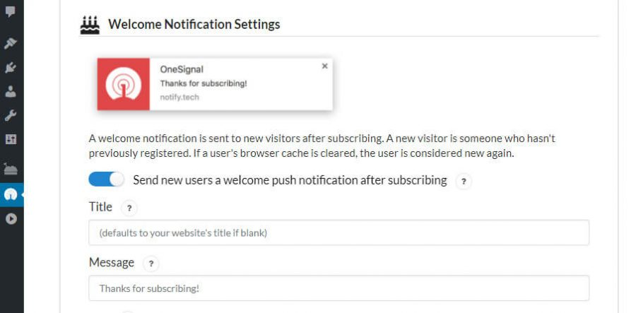 Configurando tus mensajes de bienvenida.