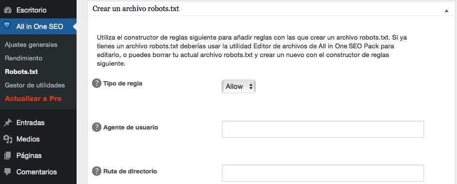 Agregar nuevas reglas a tu archivo robots.txt.