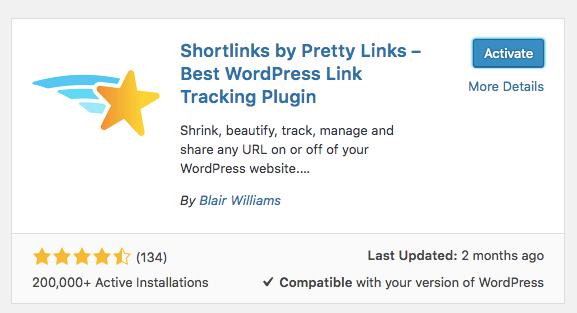 instalar pretty links