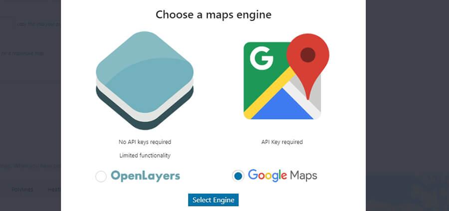 Elegir plataforma de mapas