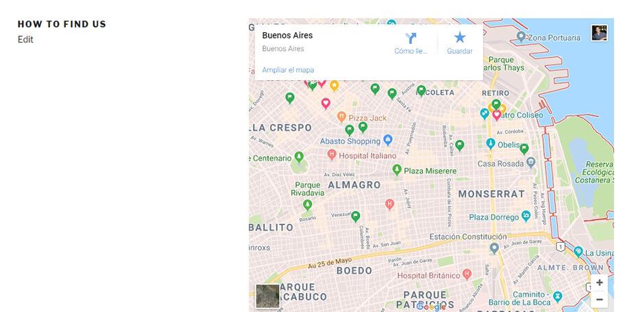 Echando un vistazo a tu mapa de Google.