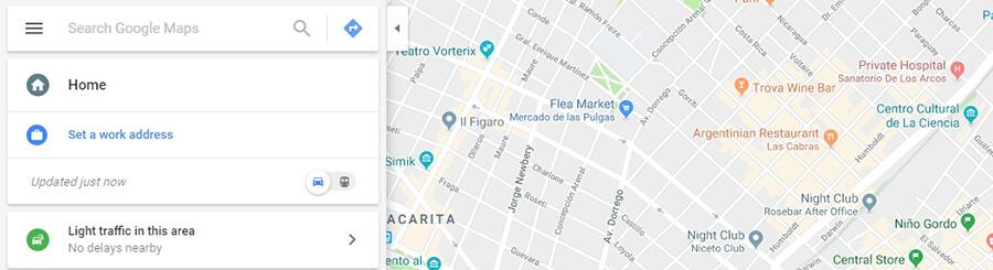 Un ejemplo de Google Maps.