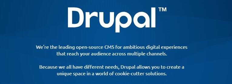 Página de inicio de Drupal.
