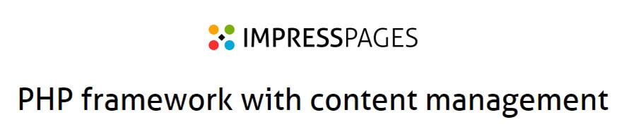 Página de Impress Pages.
